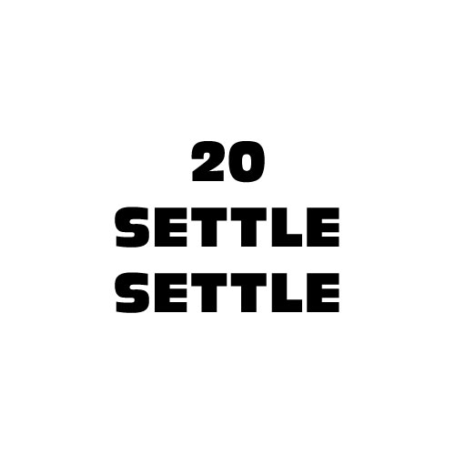 Dingbats Puzzle - Whatzit #312 - 20 SETTLE SETTLE
