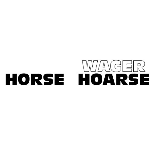 Dingbats Puzzle - Whatzit #445 - HORSE WAGER HOARSE