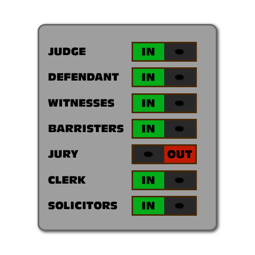 Dingbat Puzzle #510 - Whatzit Rebus - Court check-in board