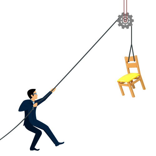 Dingbat Puzzle #556 - Whatzit Rebus - [MAN] [PULLEY] [CHAIR]