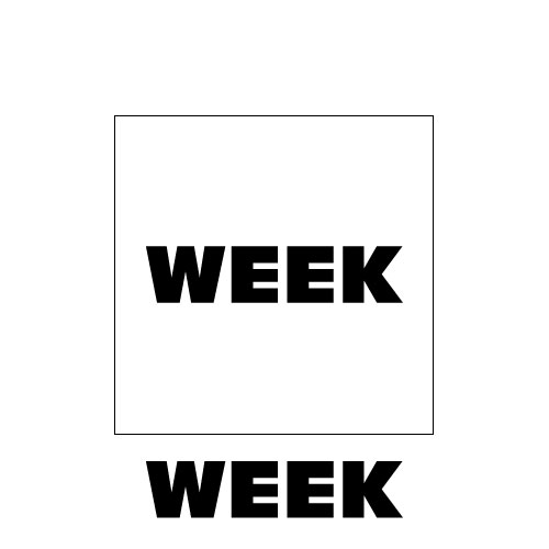 Dingbat Puzzle #580 - Whatzit Rebus - WEEK BOX WEEK