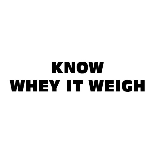 Dingbat Puzzle #628 - Whatzit Rebus - KNOW WHEY IT WEIGH
