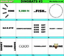 Words Up? Dingbats | Rebus Puzzles